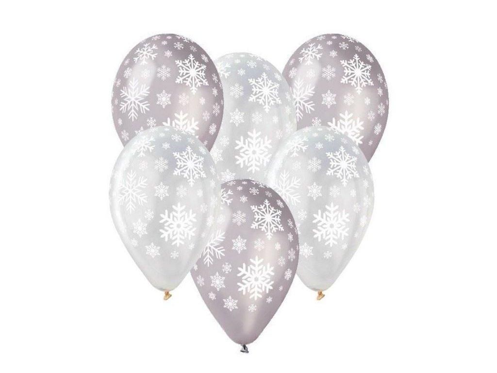 Balónky latexové 30cm - VLOČKY - Vánoce - 1 ks