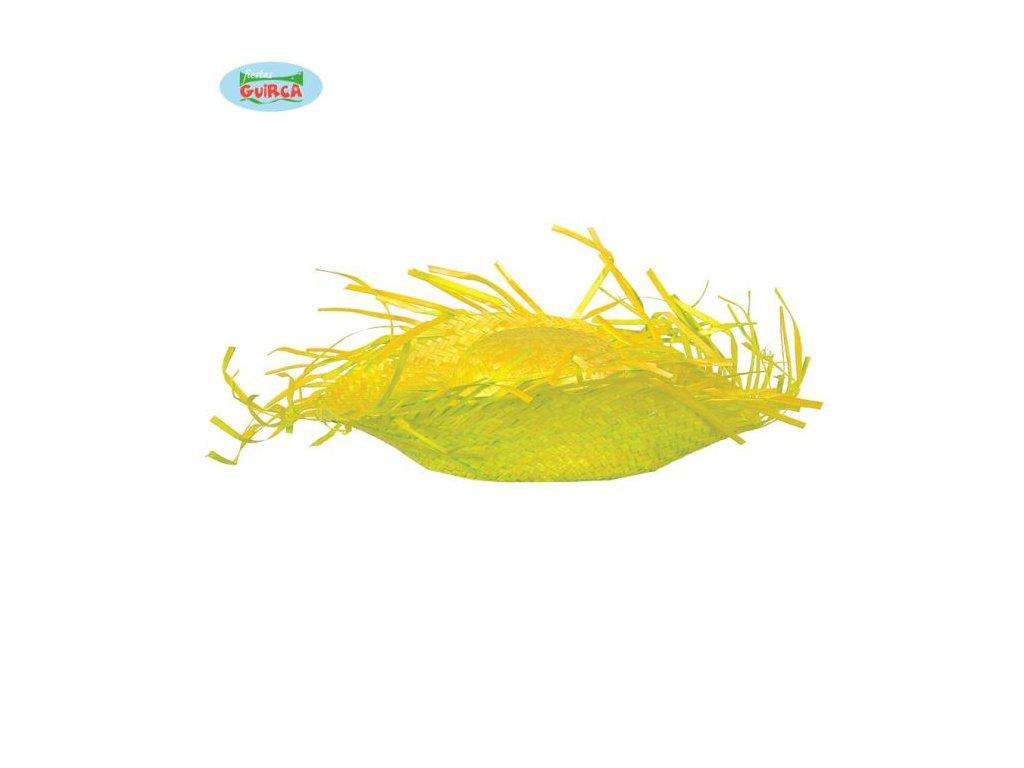 Slaměný klobouk - žlutý