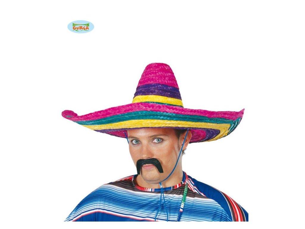 Barevný klobouk sombrero - Mexiko 50 cm