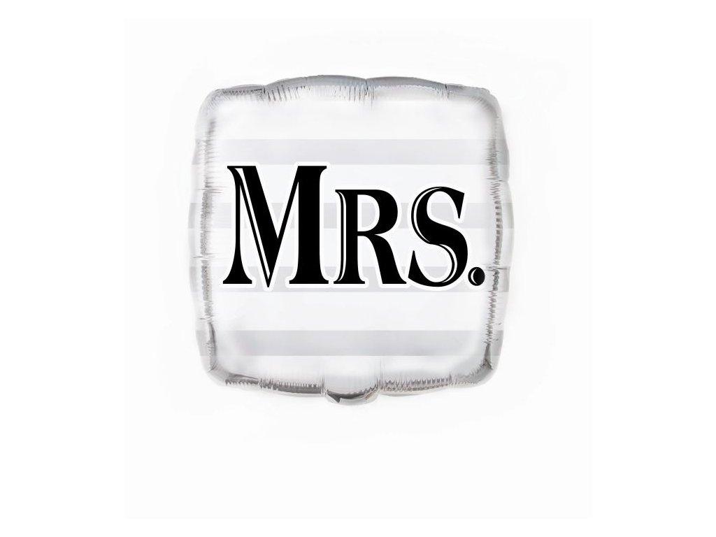 Foliový balónek Mrs. - Svatba - 45 cm