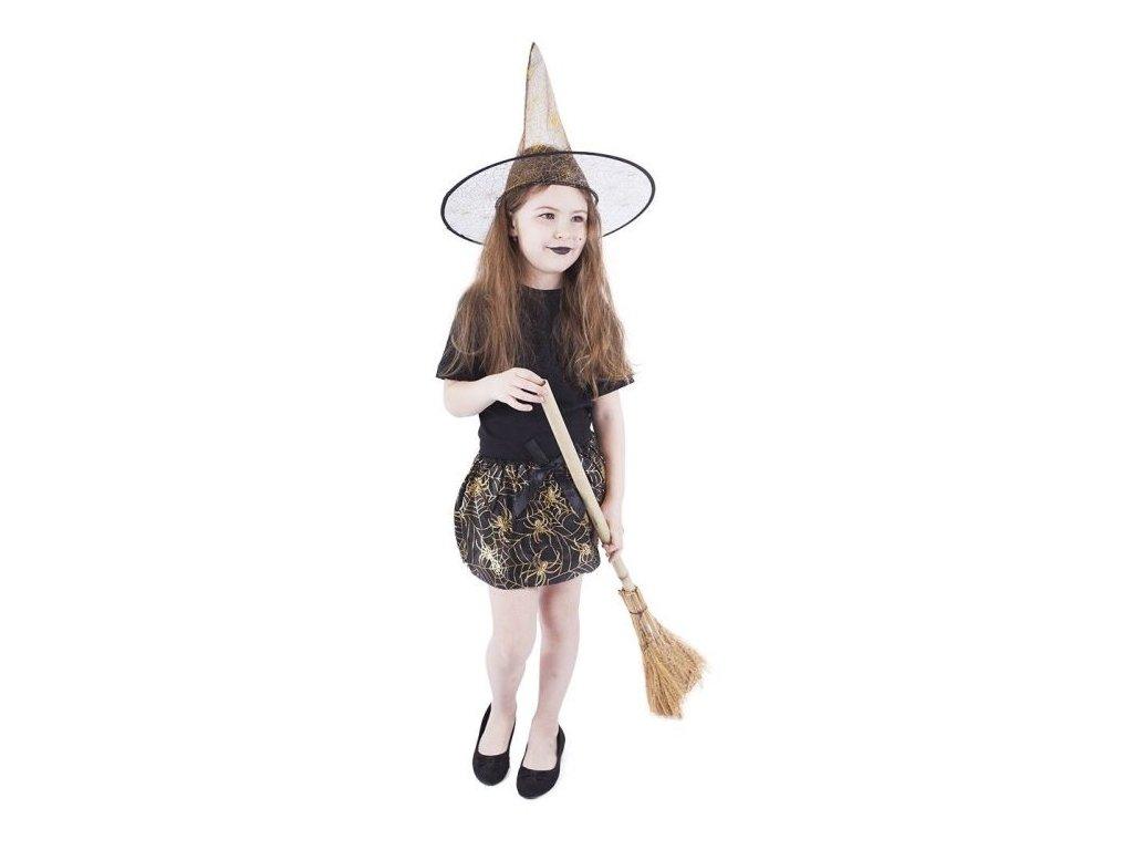 Sukně čarodějnice s kloboukem dětská - Halloween