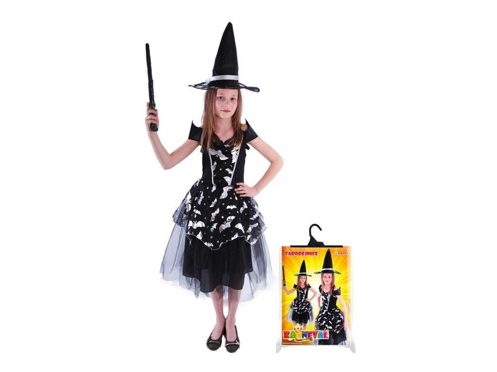 karnevalový kostým čarodějnice - netopýrka, vel. S