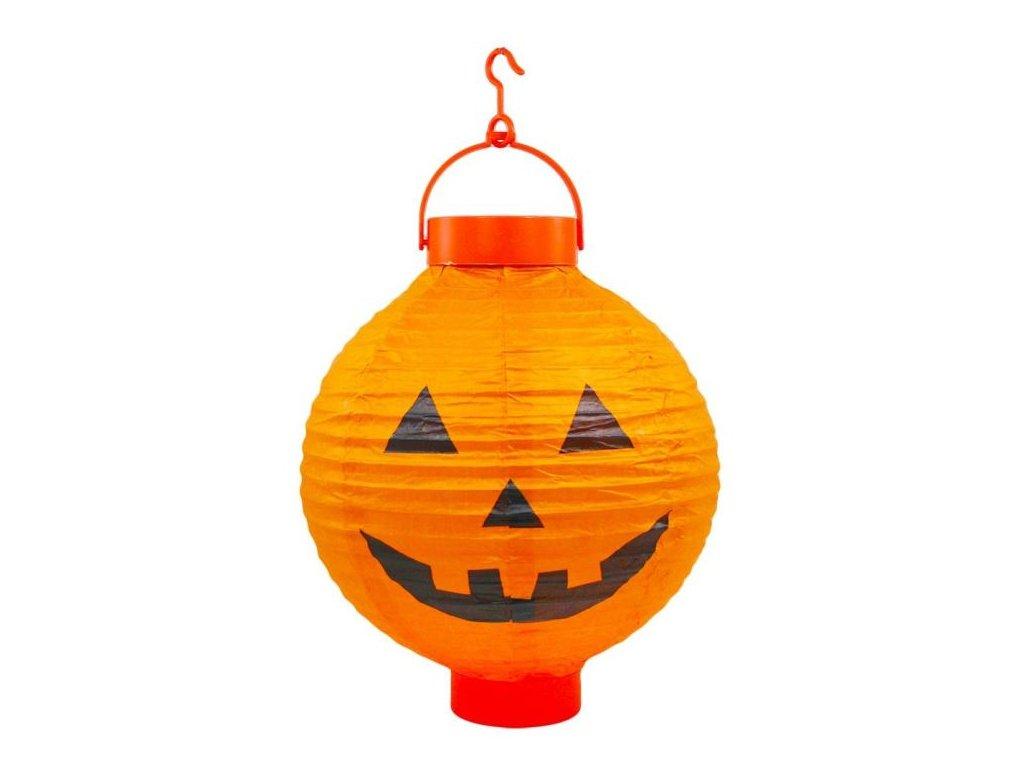 Svítící lampion s motivem dýně - pumpkin - HALLOWEEN - 28 cm