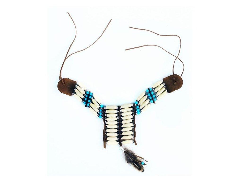 Náhrdelník indiánský s peřím - Apač