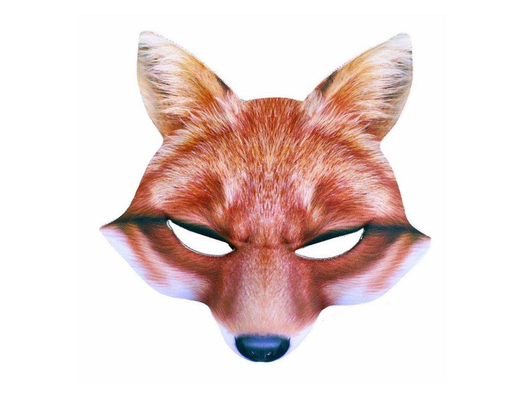 maska liška dětská