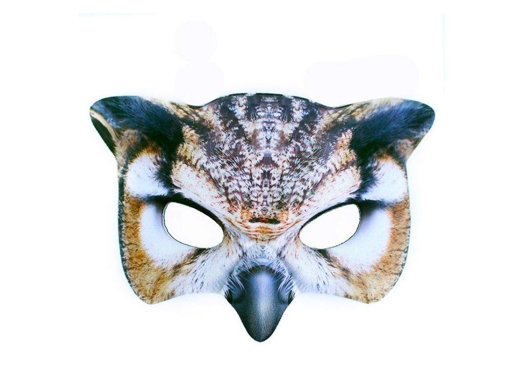 maska sova dětská