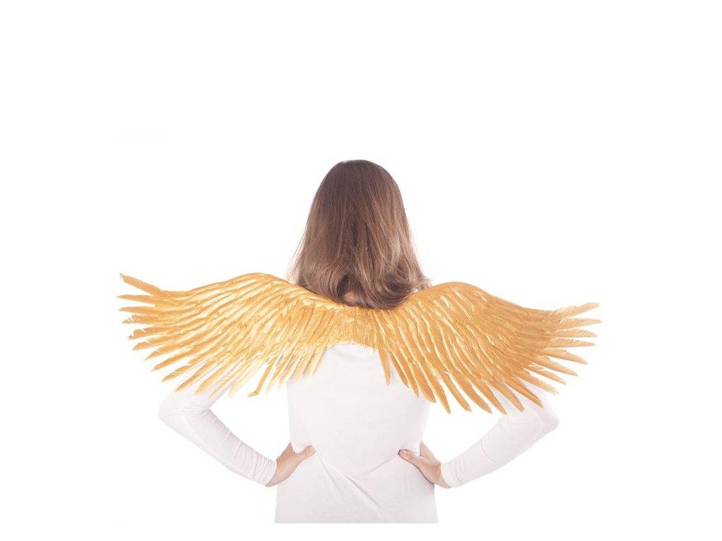 Křídla anděl zlatá - rozpětí 96 cm - vánoce