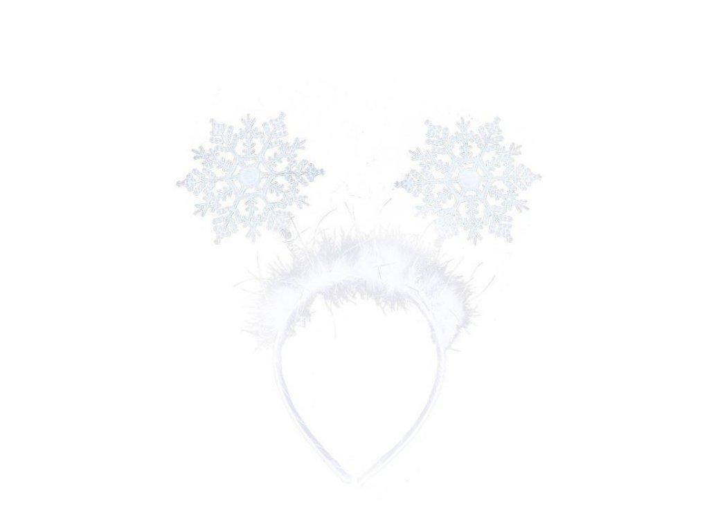 Čelenka sněhová vločka - vánoce
