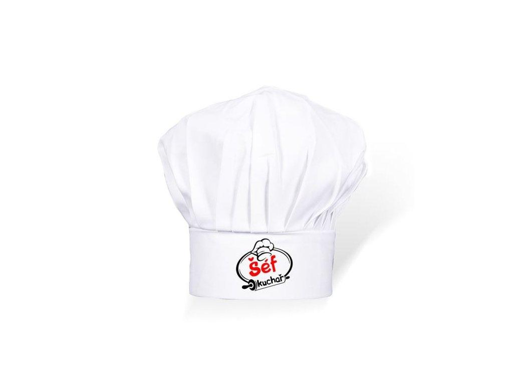 Čepice kuchař - kuchařka dětská - unisex