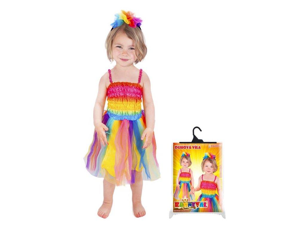 karnevalový kostým duhová víla, vel. S