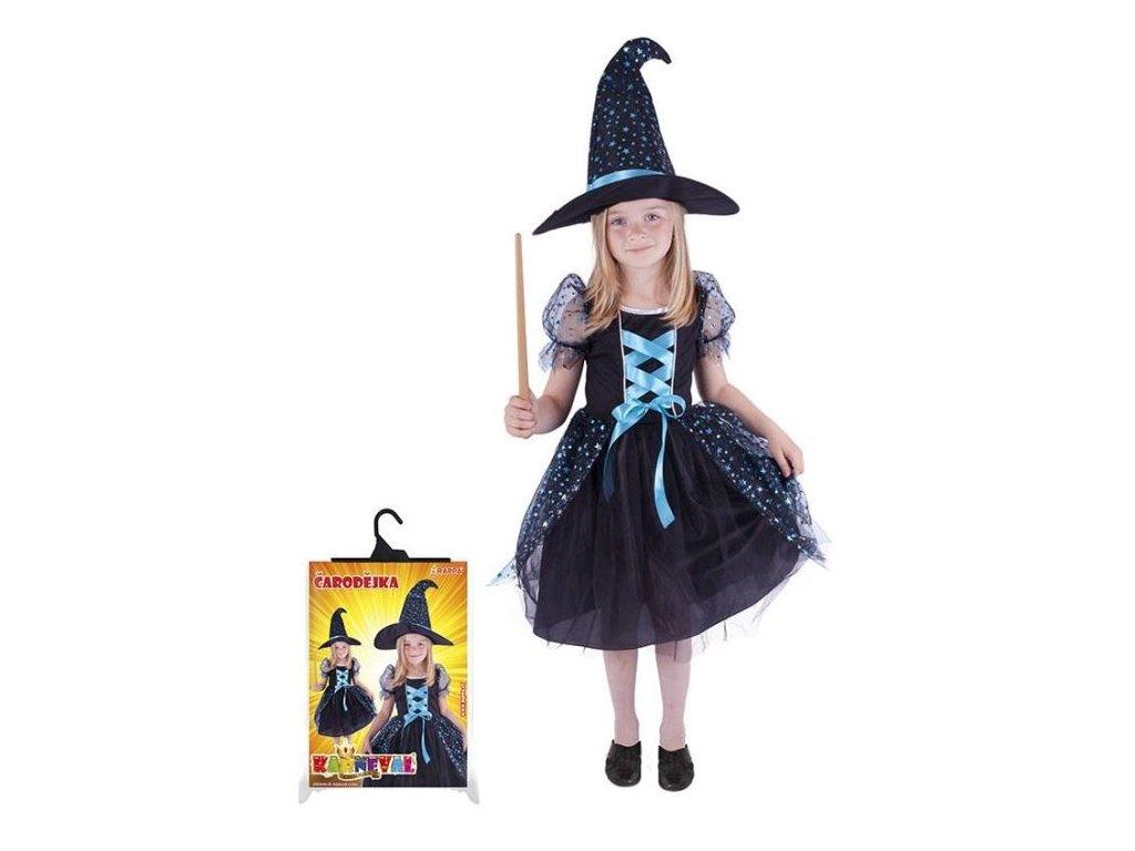karnevalový kostým čarodějnice/halloween magická, vel. M