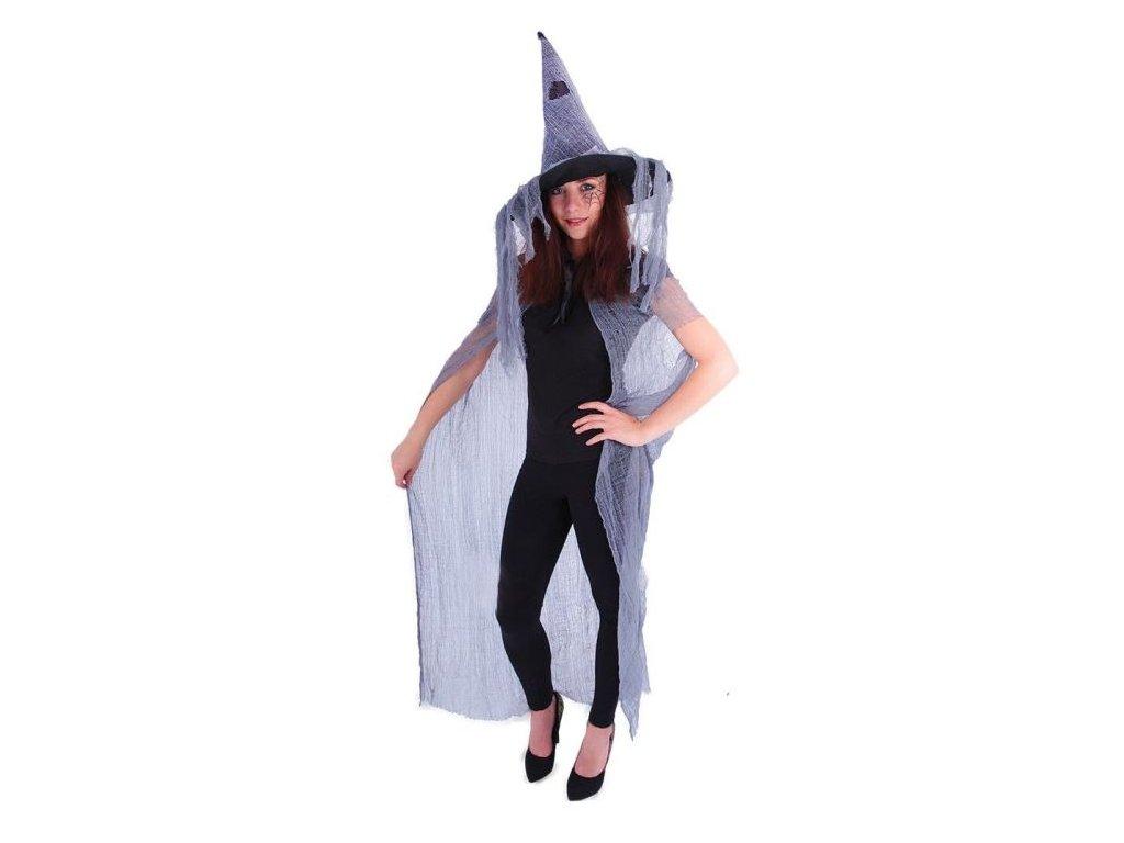 Plášť čarodějnice - čaroděj s kloboukem dospělý
