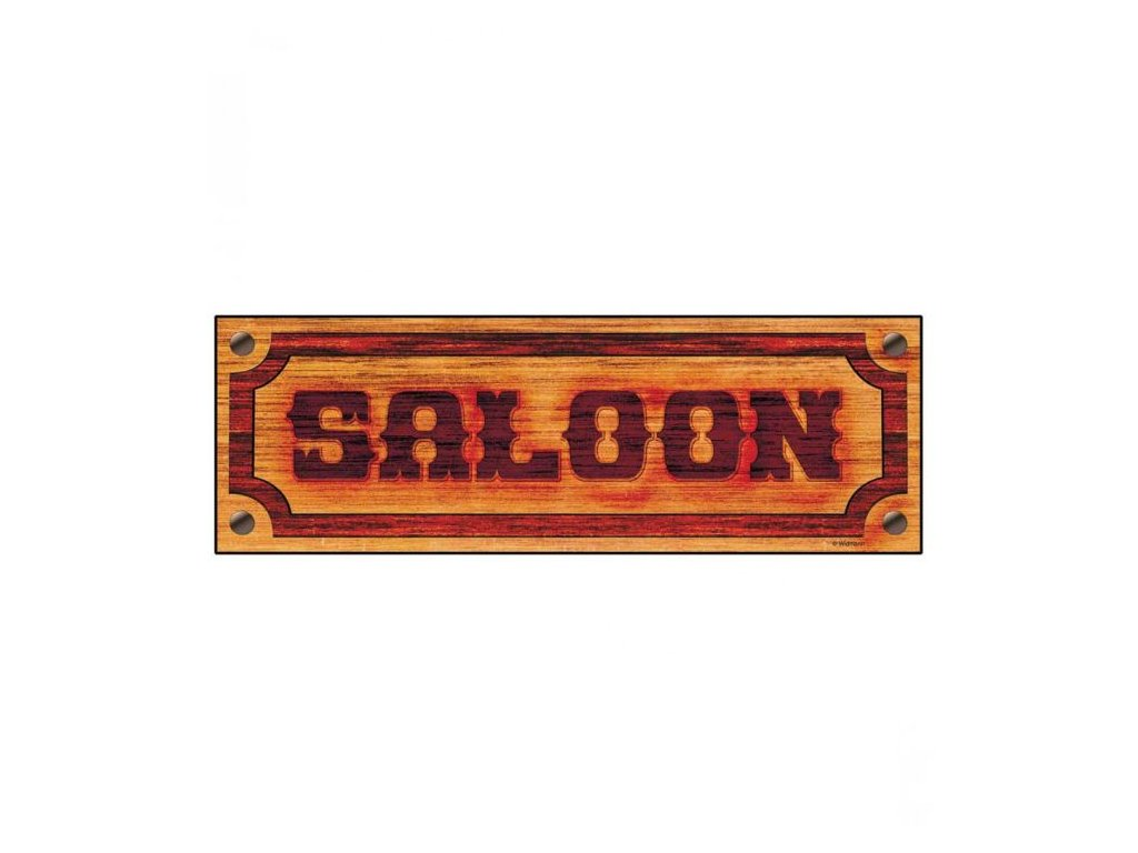 Dekorace Saloon - western - 78x26 cm