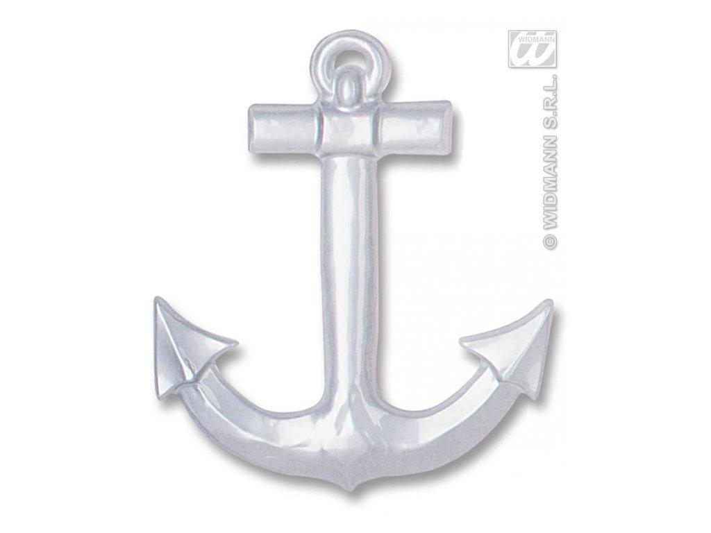 Dekorace Kotva - námořník - stříbrná/zlatá - 50 cm