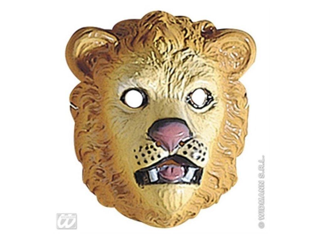 Maska dětská plast Lev