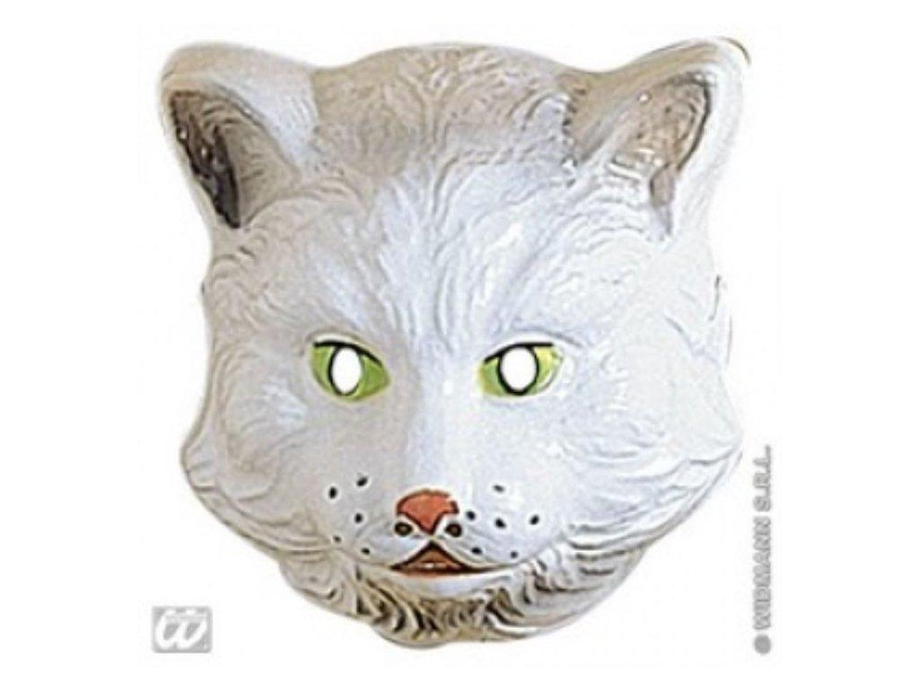 Maska dětská plast Kočka