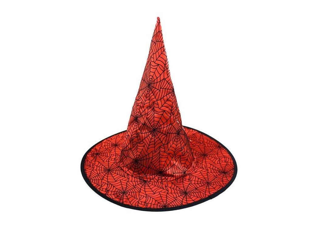 Klobouk čarodějnický červený pro dospělé - Halloween