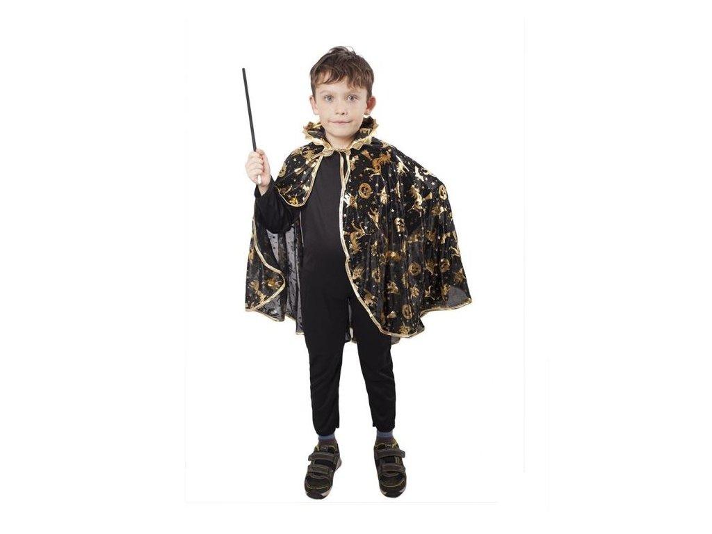 Karnevalový kostým plášť čarodějnický černý, dětský - Halloween