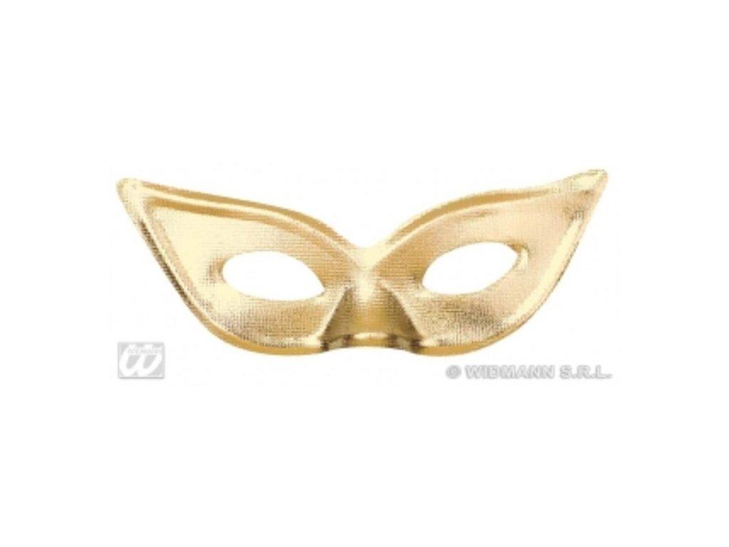 Škraboška Papillon zlatá/stříbrná