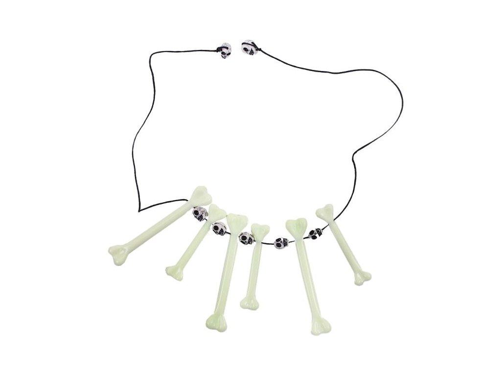 náhrdelník neandrtálec - pravěký s kostmi