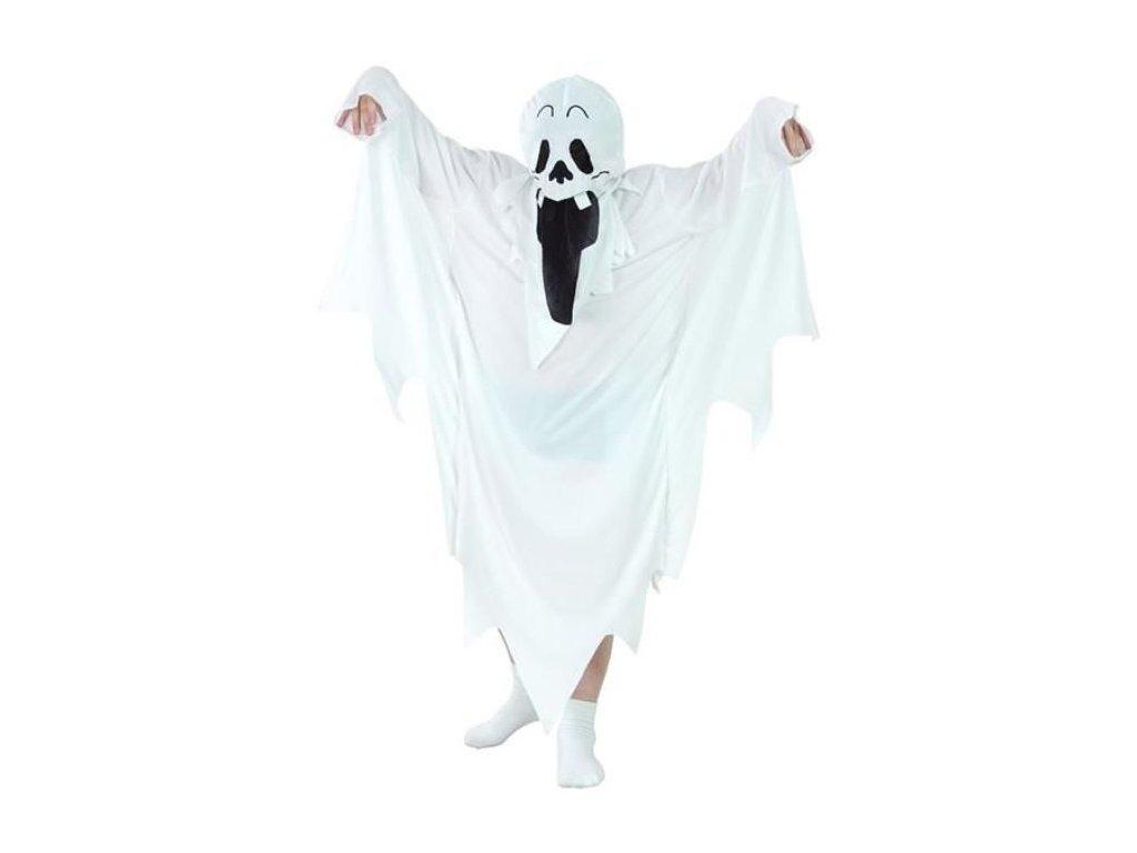 Dětský kostým DUCH vel.130/140 cm - unisex - Halloween