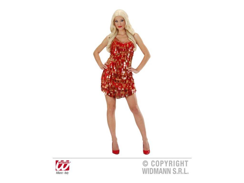 Dámský kostým - šaty červené Charleston - vel. L