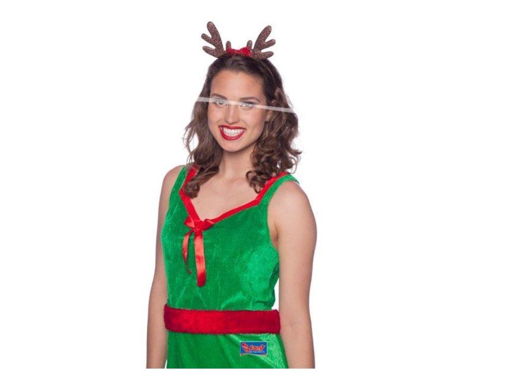 Čelenka sob s mašlí - vánoce