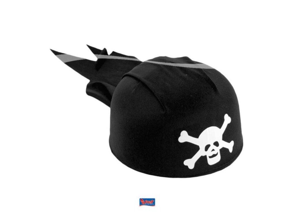Klobouk dětský pirátský s lebkou - černý