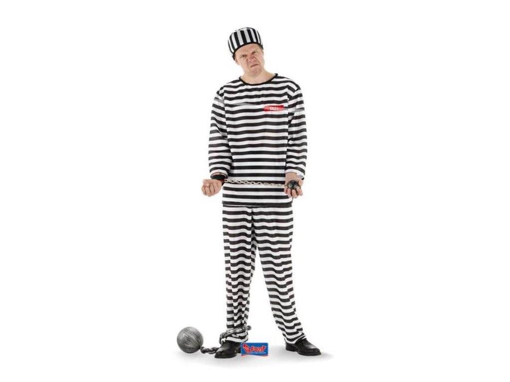 Kostým vězeň - trestanec - zločinec, vel. XL/XXL (52-56)