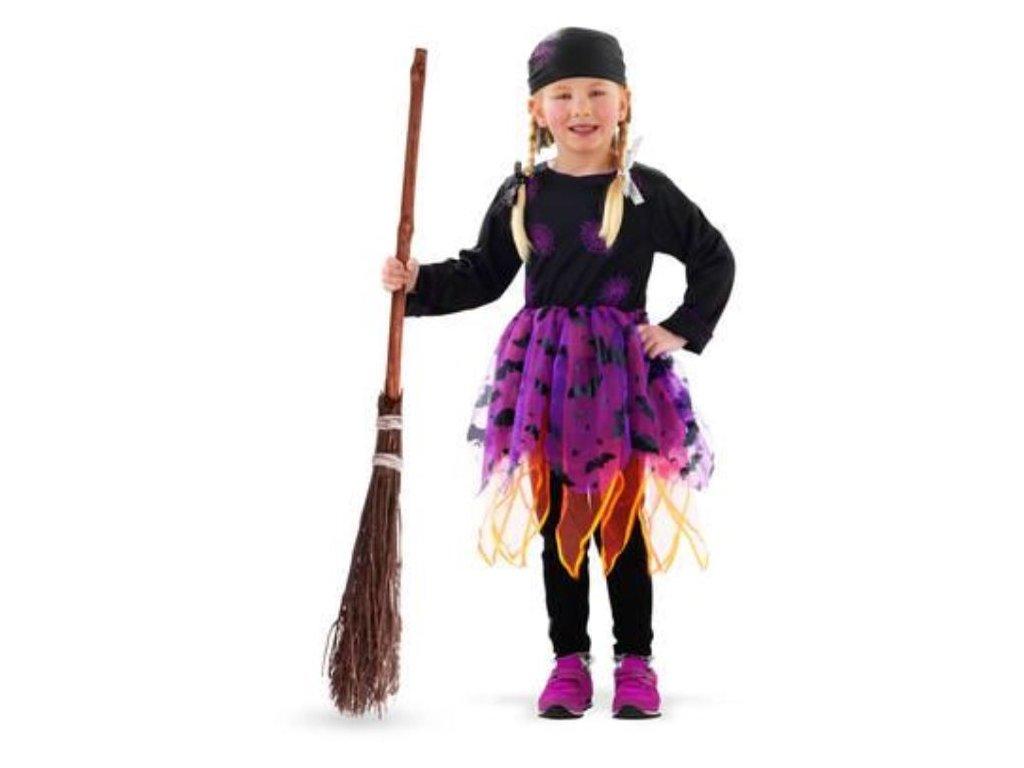 Dětský kostým čarodějnice - Halloween vel.(S)