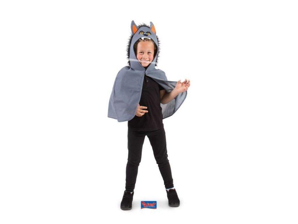 Dětský kostým vlkodlaka, plášť s kapucí - Halloween, 4-9 let
