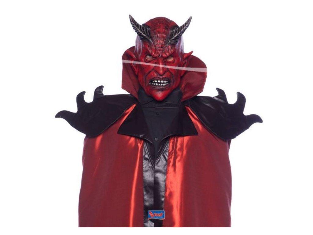 Maska latex čert - ďábel - Vánoce
