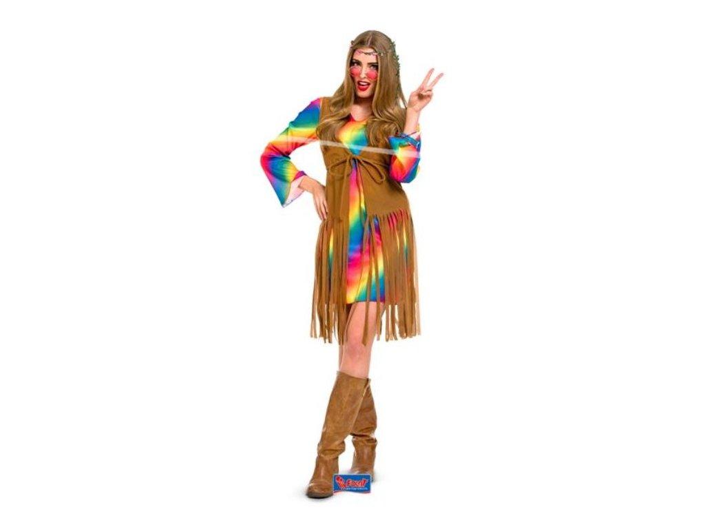 Kostým Hipisačka, S/M (36-38) - Hippies