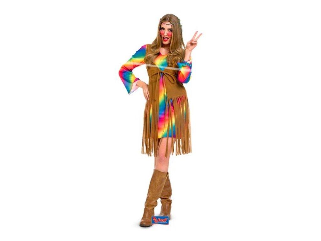 Kostým Hipisačka, L/XL (40-42) - Hippies