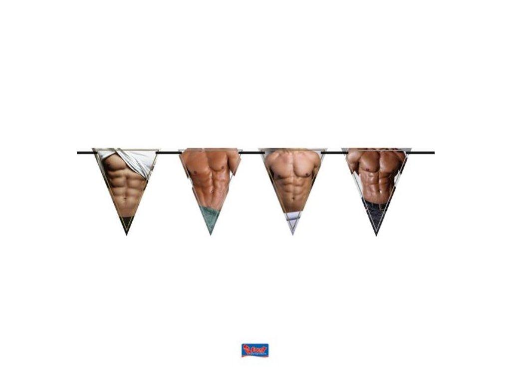 """Girlanda vlajky """"mužské tělo"""" 600 cm - Rozlučka se svobodou"""