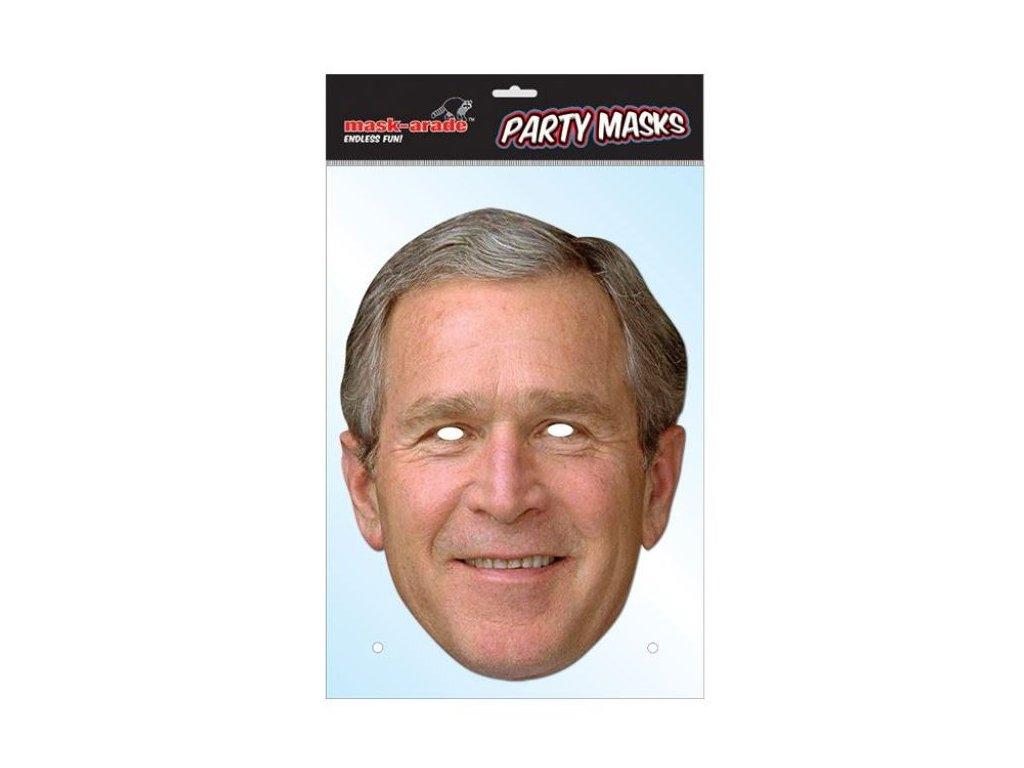 George Bush - maska celebrit - prezident