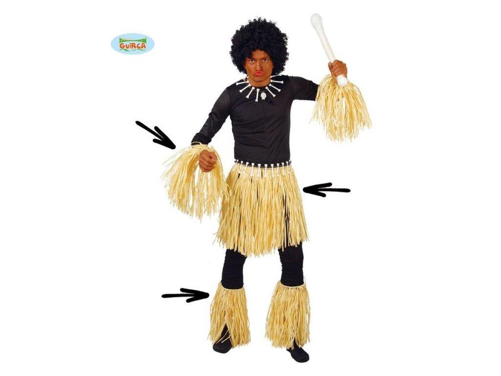 Kostým zulu - afro sada - HAWAII - unisex