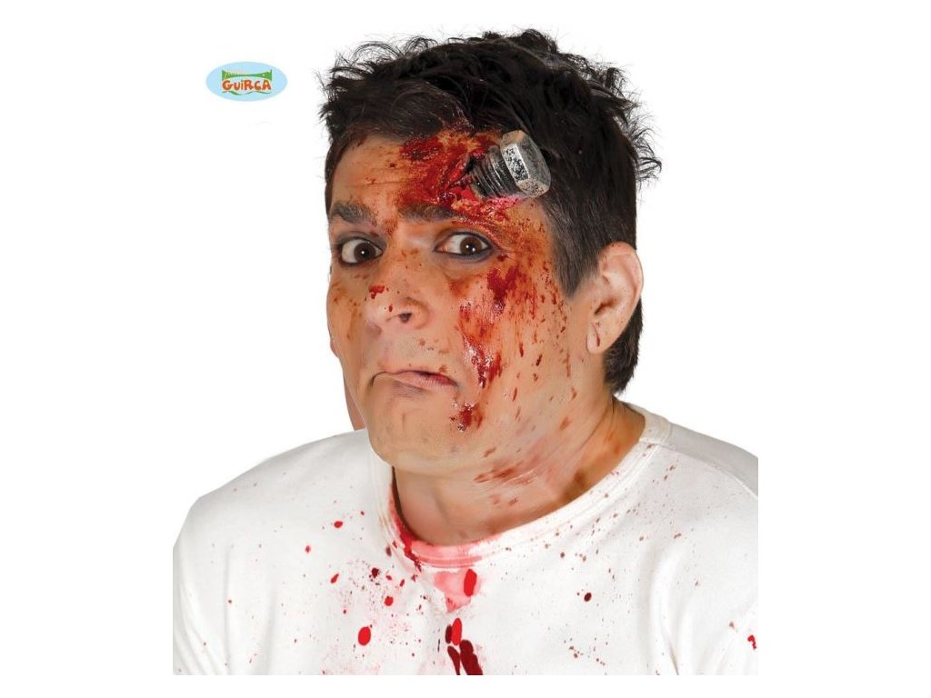 Profi efekt horor - ŠROUB (s lepidlem) - Halloween