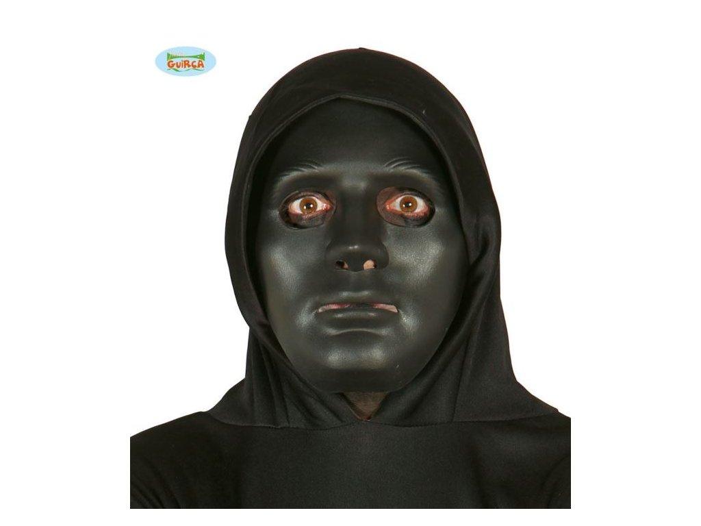 Černá maska - DNB - Halloween - PVC