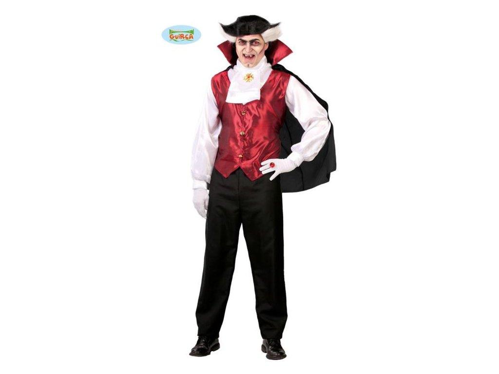 Kostým Vampír - Dracula - upír - vel. L (52-54) - Halloween