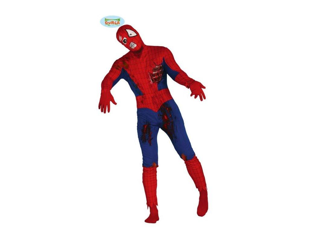 Kostým Spider - Zombie - Halloween - vel. L (52-54)