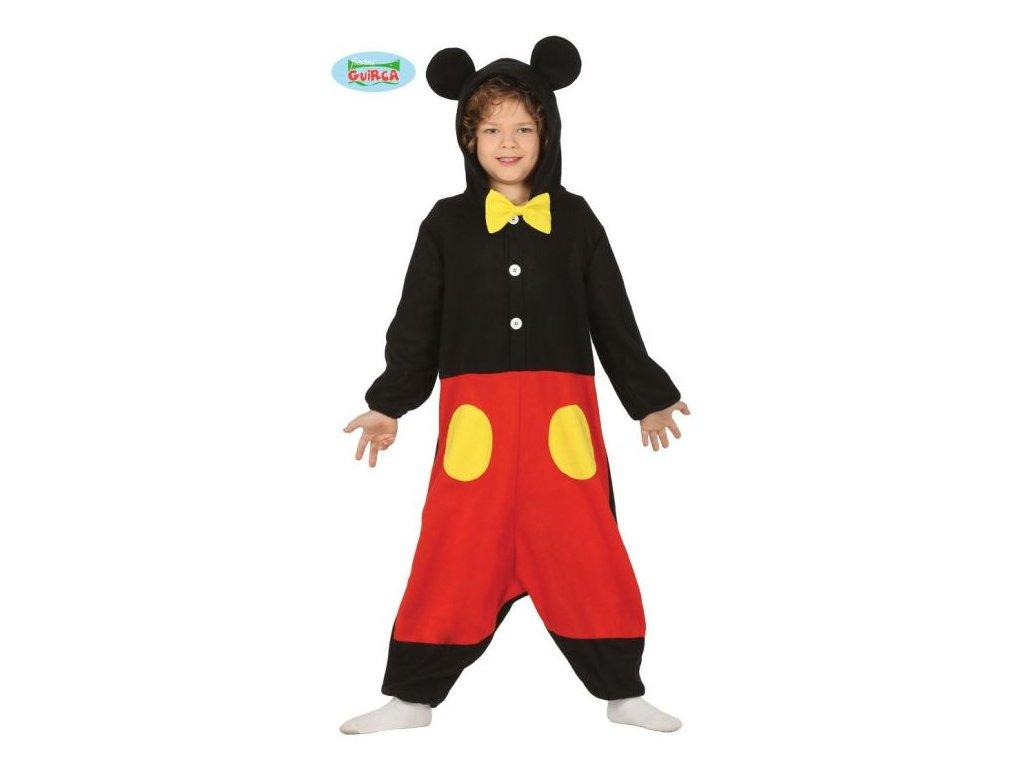 DĚTSKÝ KOSTÝM MYŠ - Mickey - myšák - vel. 7-9 let
