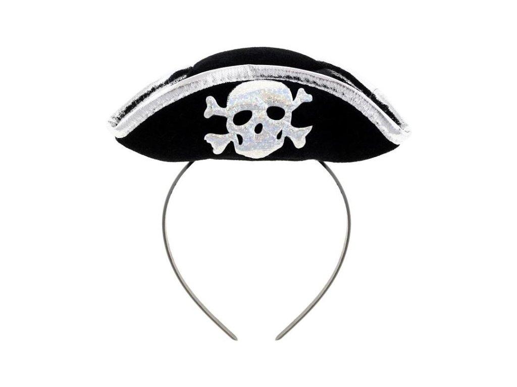 Pirátský klobouček na čelence