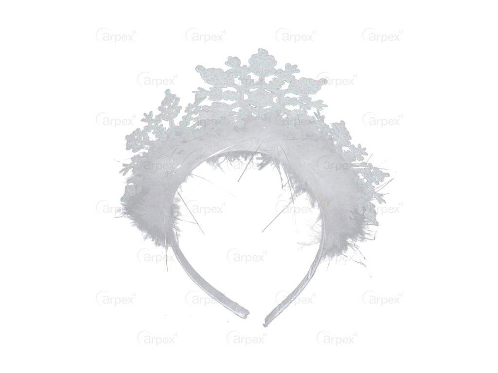 Diadém - korunka sněhová vločka - Vánoce