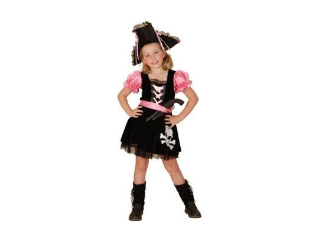 Dětský kostým Pirátka růžová vel.110-120 cm