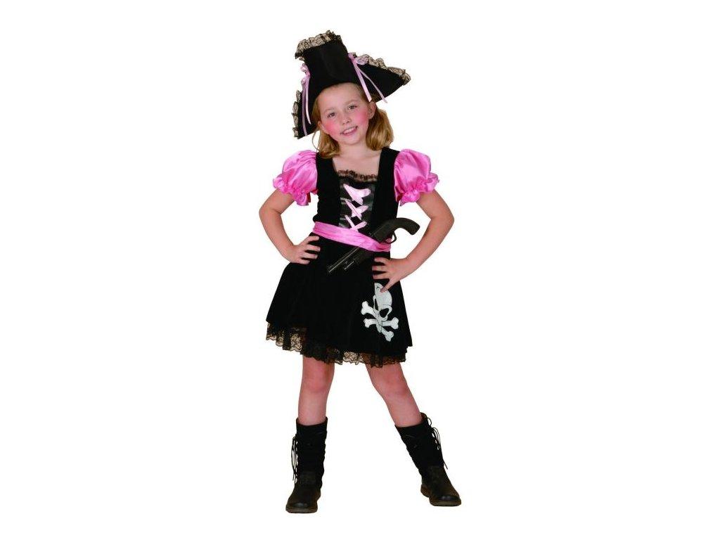 Dětský kostým Pirátka růžová vel.120-130 cm