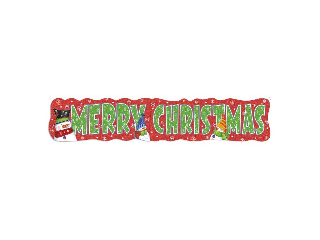 Girlanda - Merry Christmas - Veselé Vánoce - 131 cm