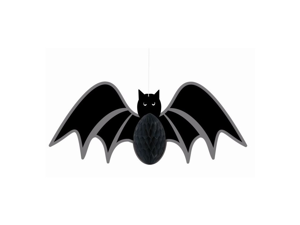Závěsná dekorace netopýra - HALLOWEEN - 35 cm