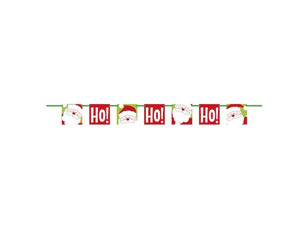 Girlanda HOHOHO banner - Vánoce - Santa Claus - 152 cm
