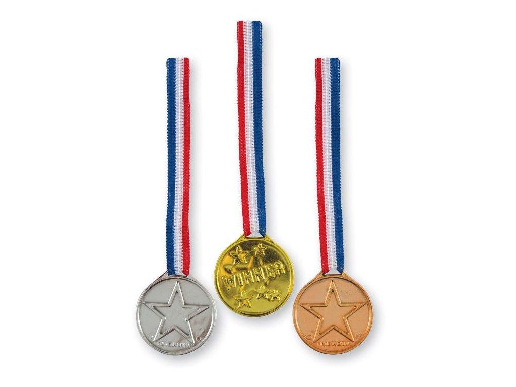 Medaile - zlatá, stříbrná, bronzová 3 ks